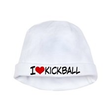 I Heart Kickball baby hat