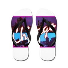 Chicago Illinois Greetings Flip Flops