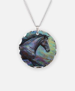 Dark Jewel painting Necklace