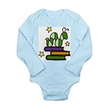 Books And Worm Long Sleeve Infant Bodysuit