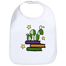 Books And Worm Bib