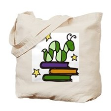 Books And Worm Tote Bag
