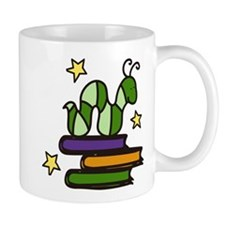 Books And Worm Mug