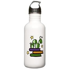 Books And Worm Water Bottle