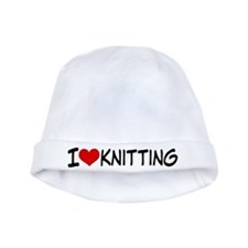 I Heart Knitting baby hat