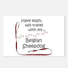 Belgian Sheepdog Travel Leash Postcards (Package o