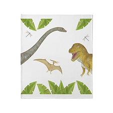 Dinosaur Throw Blanket