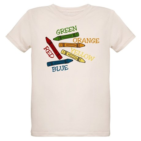 Colored Crayons Organic Kids T-Shirt