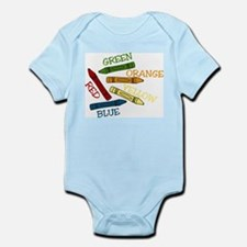Colored Crayons Infant Bodysuit