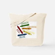 Colored Crayons Tote Bag