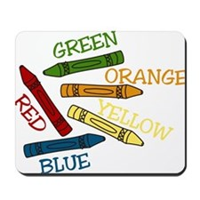Colored Crayons Mousepad