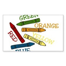 Colored Crayons Decal