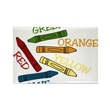 Colored Crayons Rectangle Magnet