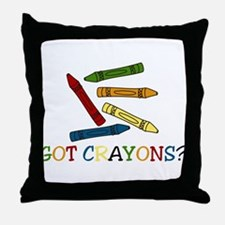 Got Crayons? Throw Pillow