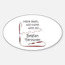 Belgian Tervuren Travel Leash Oval Decal