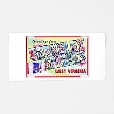 Berkeley Springs West Virginia Aluminum License Pl