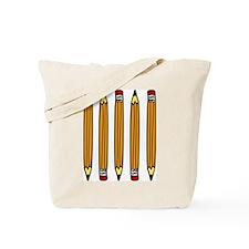 School Pencils Tote Bag