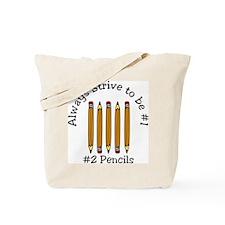 #2 Pencils Tote Bag