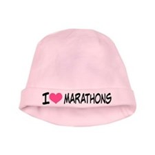 I Heart Marathons baby hat