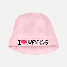 I Heart Marathons baby hat