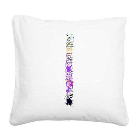 words Square Canvas Pillow