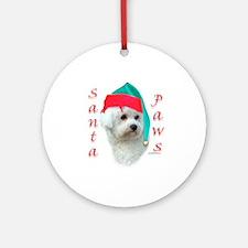 Bichon Paws Ornament (Round)