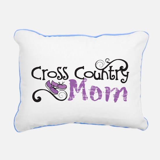 Cross Country Mom Rectangular Canvas Pillow
