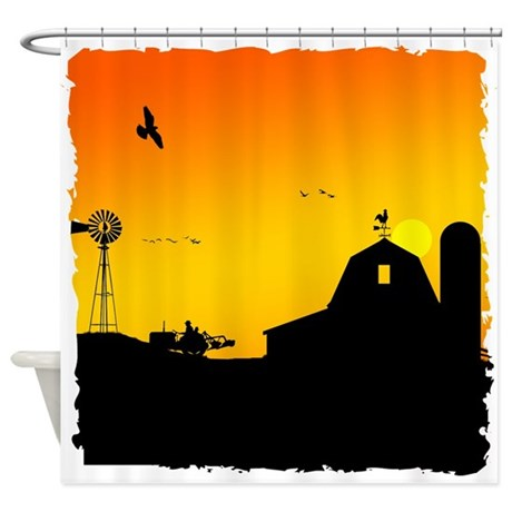 Morning of the Farm Shower Curtain