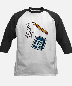 Math Calculator Kids Baseball Jersey