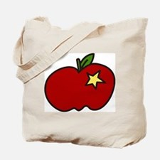 Apple And Star Tote Bag