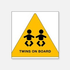 Twins Rectangle Sticker