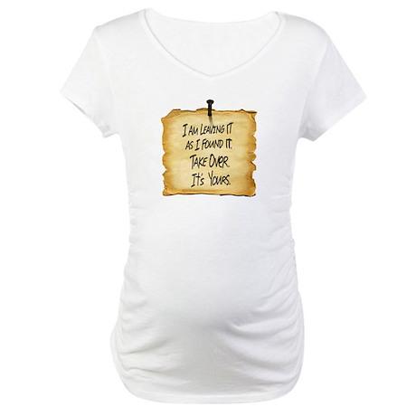 Wyatts Sign Maternity T-Shirt