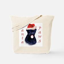 Black Russian Paws Tote Bag