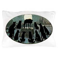 Howling Wolf Pack Pillow Case