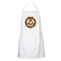 Masonic Christmas Wreath Apron