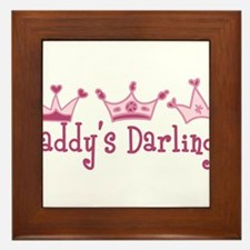 Daddys Darlings Framed Tile