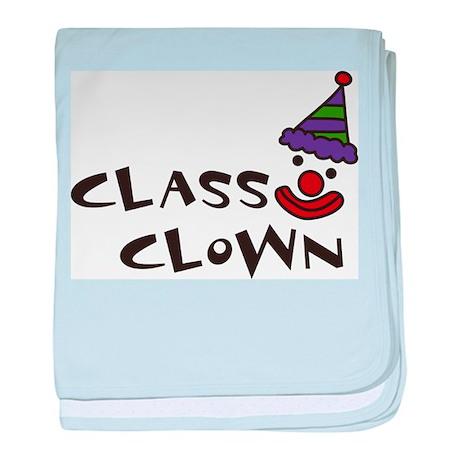 Class Clown baby blanket