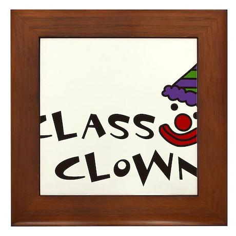 Class Clown Framed Tile