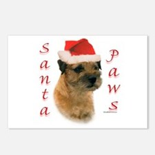 Santa Paws Border Terrier Postcards (Package of 8