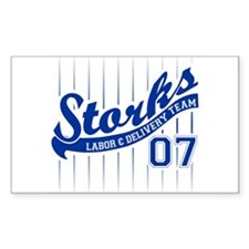 Labor Coach Team Blue 07 Rectangle Decal
