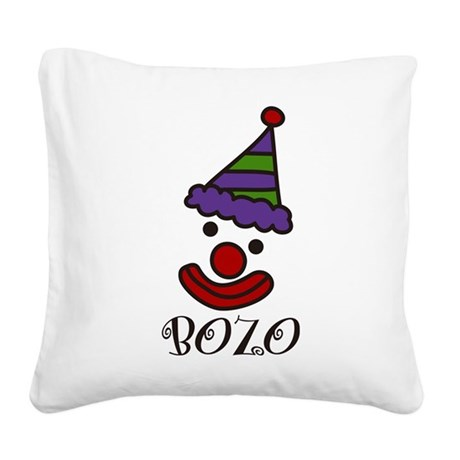 Bozo Square Canvas Pillow