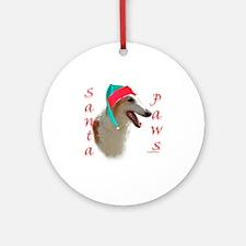 Borzoi Paws Ornament (Round)