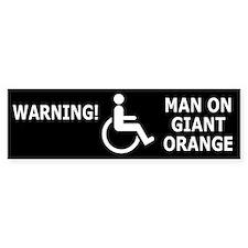 Giant freaking orange Bumper Sticker