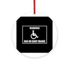 Giant freaking orange Ornament (Round)