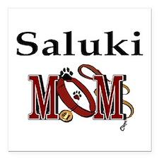 "Saluki Mom Square Car Magnet 3"" x 3"""