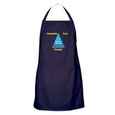 Venezuelan Food Pyramid Apron (dark)
