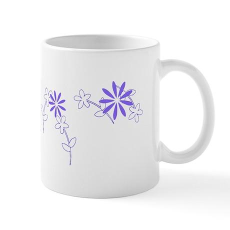 Violet Floral Garland Designer Mug