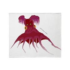 Vampire Squid (Octopus) Throw Blanket