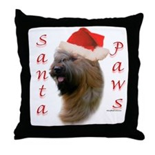 Briard Paws Throw Pillow