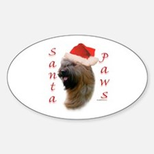 Briard Paws Oval Decal